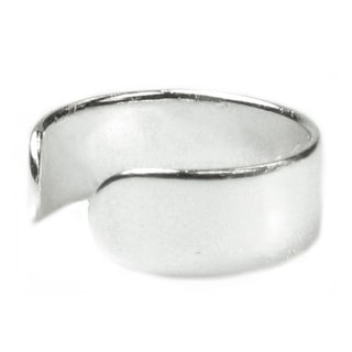 Queenberry Sterling Silver Plain Ring Clip Cuff Earring