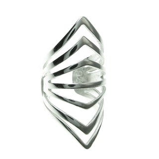 Queenberry Sterling Silver Filigree Ring Cuff Earring