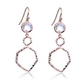 Collette Z Roseplated Sterling Silver Cubic Zirconia Dangling Earrings