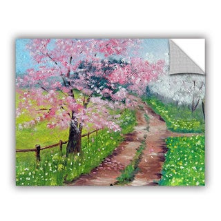 ArtWall Meaghan Troup ' Springtime Road ' Art Appeals Removable Wall Art