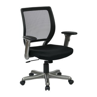 Woven Mesh Black Adjustable Rolling Executive Chair