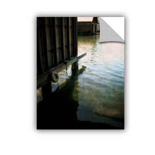 ArtWall Kevin Calkins ' Boathouse Reflections ' Art Appeals Removable Wall Art