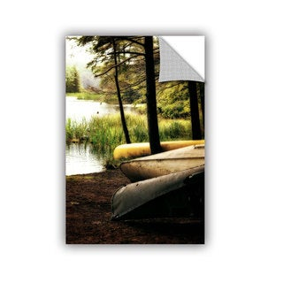 ArtWall Kevin Calkins ' Canoe Trio ' Art Appeals Removable Wall Art