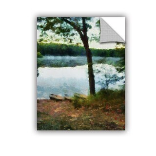 ArtWall Kevin Calkins ' Canoes On The Beach ' Art Appeals Removable Wall Art