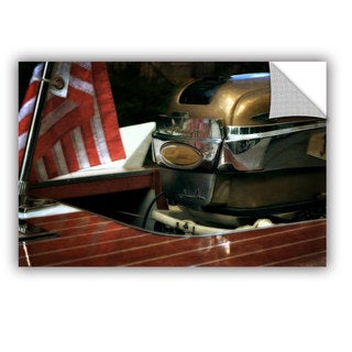 ArtWall Kevin Calkins ' Chris Craft And Old Glory ' Art Appeals Removable Wall Art