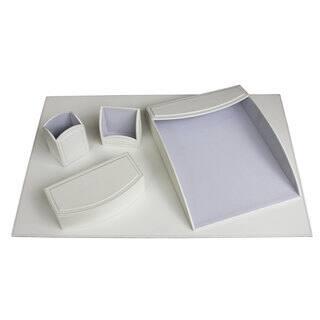 Daisy White 5-piece Leatherette Desk Set|https://ak1.ostkcdn.com/images/products/10220031/P17341612.jpg?impolicy=medium