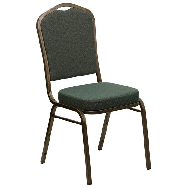 Hercules Series Green Crown Back Stacking Banquet Chair