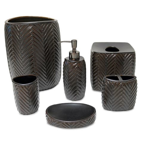 Veratex Featherton Stoneware Bath Collection Separates
