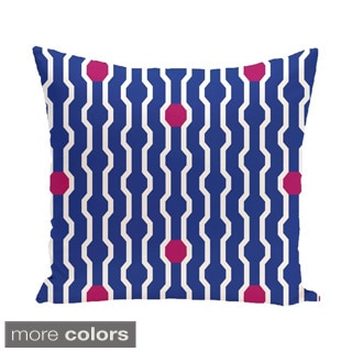 Decorative Holiday Geometric Print 18-inch Pillow