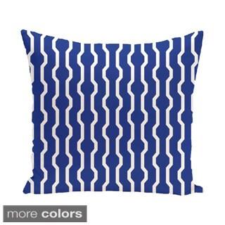 Decorative Geometric Holiday Print 18-inch Pillow