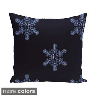 Holiday Multi Snowflake Decorative 16-inch Pillow