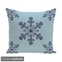 Decorative Holiday Multi Snowflake 16-inch Pillow