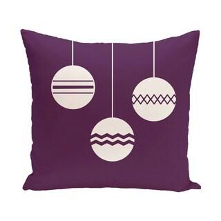 Decorative Holiday Tri Ornament Print 16-inch Pillow (Option: Purple)
