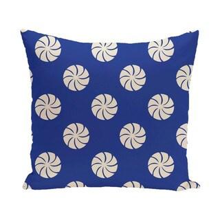 Decorative Holiday Multi Swirl Geometric Print 16-inch Pillow