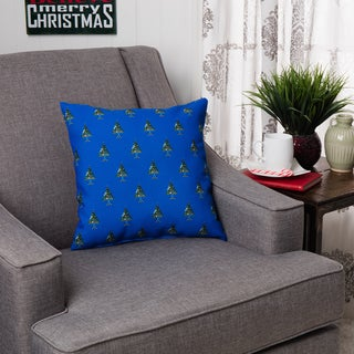 Decorative Holiday Multi Tree Print 16-inch Pillow