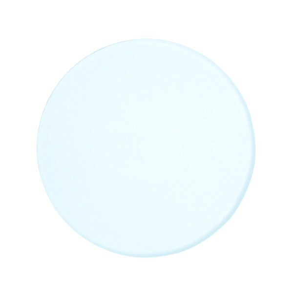 3.75-inch (95mm) Frosted Round Glass Plate for Stereo Microscopes
