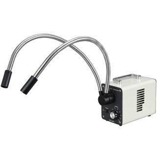 30W LED Fiber Optic Dual Gooseneck Lights Microscope Illuminator
