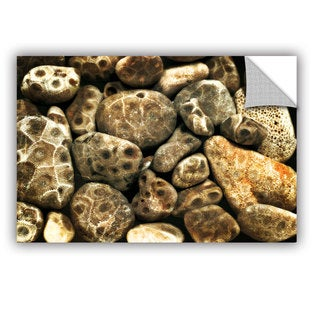 ArtWall Kevin Calkins ' Petoskey Stone Collage' Artappealz Removable Wall Art