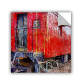 ArtWall Kevin Calkins ' Old Red Caboose' Artappealz Removable Wall Art