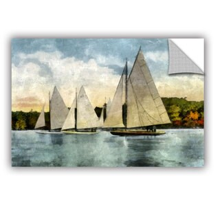 ArtWall Kevin Calkins ' Yachting In Autumn ' Artappealz Removable Wall Art (4 options available)