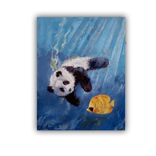 ArtWall Michael Creese ' Panda Diver ' Art Appeals Removable Wall Art