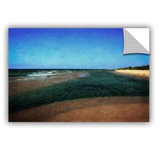 ArtWall Kevin Calkins ' Sandbar With Blue Sky' Artappealz Removable Wall Art