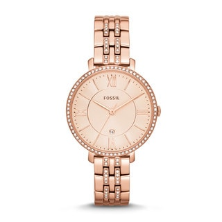 Fossil Women's ES3546 Stainless Steel Crystal Acented Watch