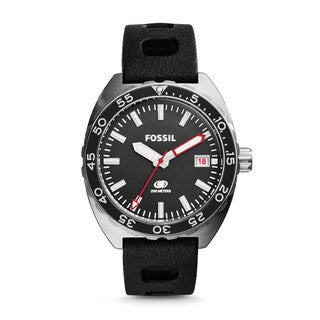 Fossil Men's FS5053 Breaker Three-Hand Date Silicone Watch - Black