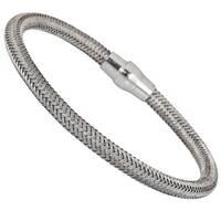 Decadence Sterling Silver Woven Magnetic Fancy Italian Bracelet