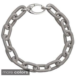 Decadence Sterling Silver Wire Link Italian Bracelet