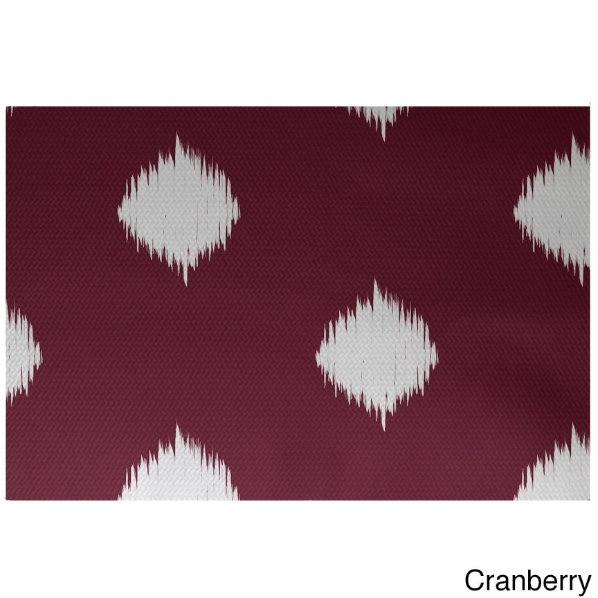 Holiday Ikat Print Decorative Area Rug 3 X 5 Overstock 10220379