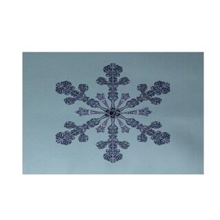 Holiday Snowflake Print Decorative Area Rug - 3' x 5'