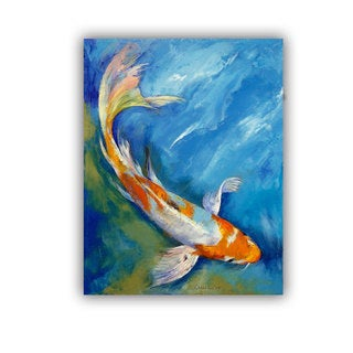 ArtWall Michael Creese 'Yamato Nishiki Koi' Art Appeals Removable Wall Art
