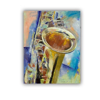 ArtWall Michael Creese ' Saxaphone ' Art Appeals Removable Wall Art (3 options available)