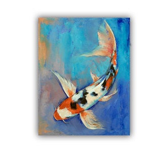 ArtWall Michael Creese ' Sanke Butterfly Koi ' Art Appeals Removable Wall Art