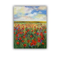 ArtWall Michael Creese  ' Poppies ' Art Appeals Removable Wall Art