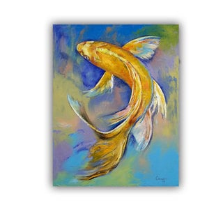 ArtWall Michael Creese ' Orenji Butterfly Koi ' Art Appeals Removable Wall Art