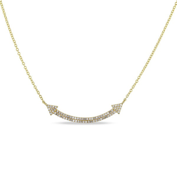 Miadora 14k Yellow Gold 1/5ct TDW Diamond Signal Necklace. Opens flyout.