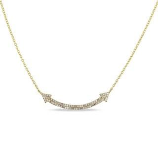 Miadora 14k Yellow Gold 1/5ct TDW Diamond Signal Necklace