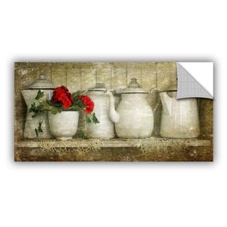 Antonio Raggio 'Flower With Pots' Art Appealz Removable Wall Art