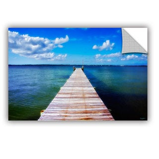Antonio Raggio 'Empty Pier' Art Appealz Removable Wall Art - Multi