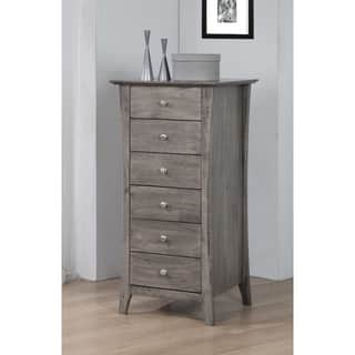 Vermont Stone Dark Burnt Grey 6 Drawer Chest