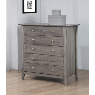 Vermont Stone Dirty White Burn 6-drawer Chest