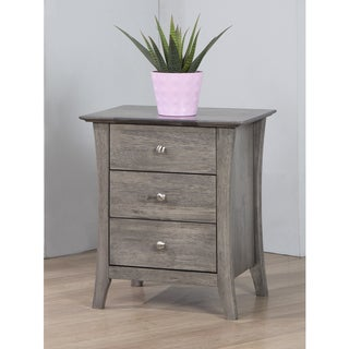 Vermont Stone Dark Burnt Grey 3-drawer Bedside Table
