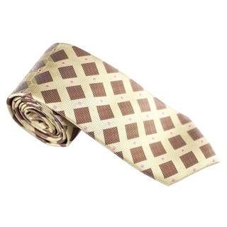 Elie Balleh Milano Italy EBNT356 Microfiber Checkered Neck Tie