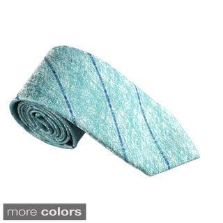 Elie Balleh Milano Italy EBNT1479 Microfiber Striped Neck Tie