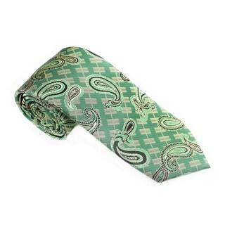 Elie Balleh Milano Italy EBNT14073 Microfiber Paisley Neck Tie (Option: Green)