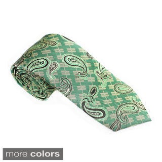 Elie Balleh Milano Italy EBNT14073 Microfiber Paisley Neck Tie (More options available)