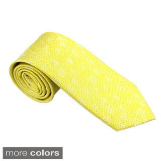 Elie Balleh Milano Italy EBNT15932 Microfiber Patterned Neck Tie