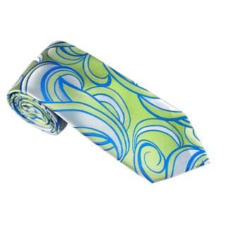 Elie Balleh Milano Italy EBNT18318 Microfiber Geometric Neck Tie